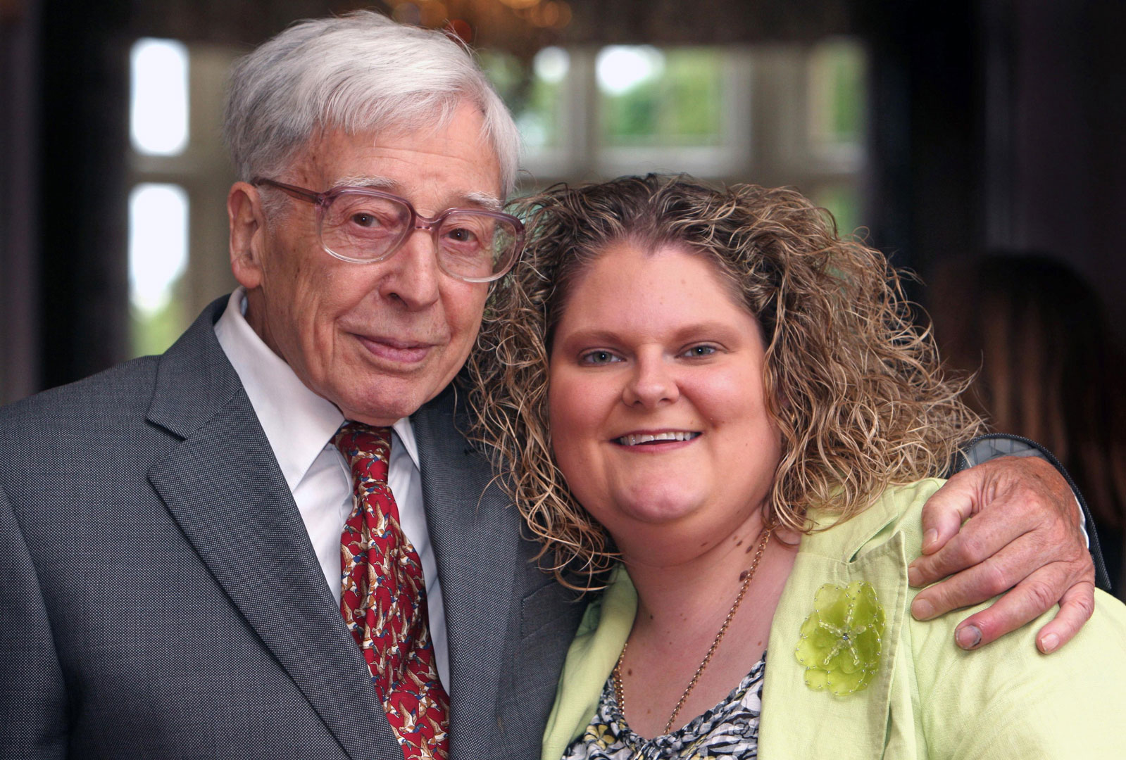 Louise Brown poses with Robert Edwards in 2008