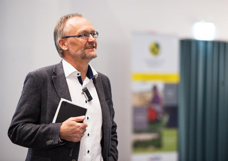 Achim Dobermann at the offices of Rothamsted Research