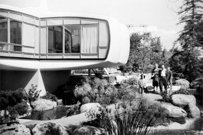 Monsanto's futuristic plastic house in Disneyland's Tomorrowland circa 1960