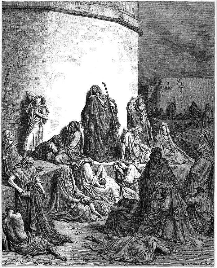 The People Mourning Over the Ruins of Jerusalem by Gustave Doré